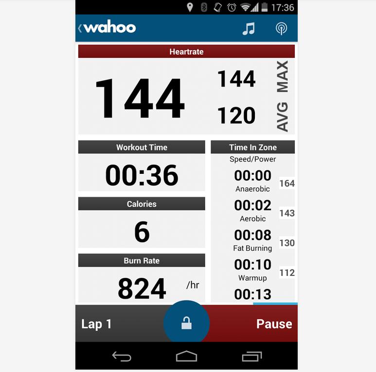 Wahoo Fitness ist zwar relativ unbekannt, bringt aber viele nützliche Trainings-Funktionen mit. (Foto: Google Play)