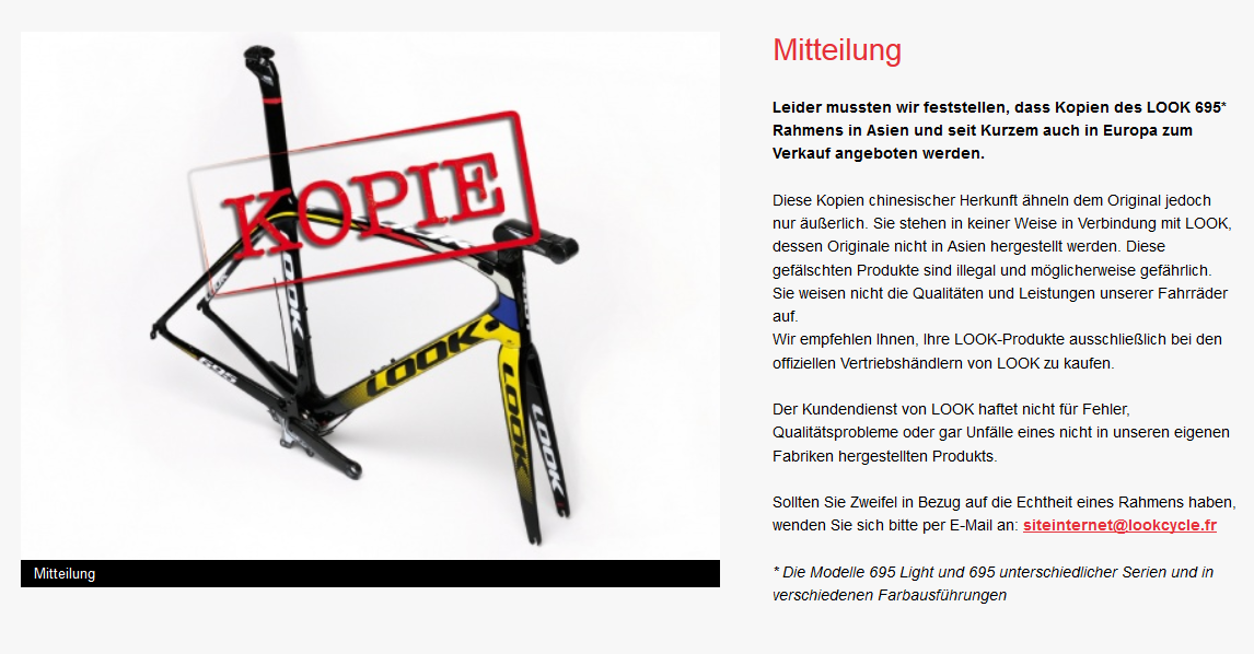 Look warnt vor Fälschungen. (Bild: Look)