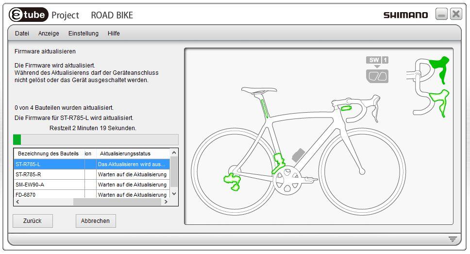 Ist der Updatevorgang erst einemal gestartet, werden alle adafür ausgewählten Komponenten automatisch auf den neuesten Stand gebracht.