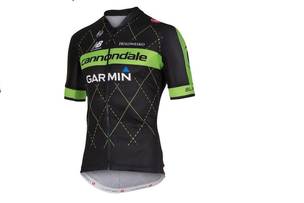 Das amerikanische Team, Cannondale-Garmin, hat sich für 2015 entschieden, mit schwarz-grünen Trikots an den Start zu gehen. (Foto: Cannondale-Garmin)