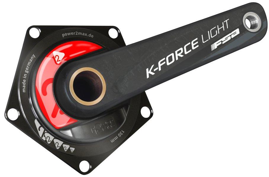 Leistungsmessung mit der Power2Max auf Basis einer FSA K-Force Light Kurbel.