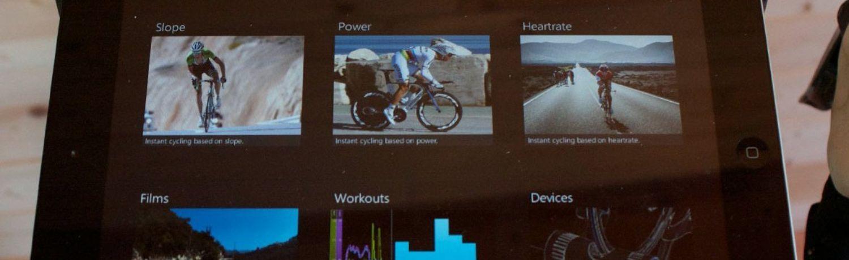 Mit Videos von den Frühlings-Klassikern oder Bergetappen, gibt dir die Tacx Cycling App die Möglichkeit, lange Sessions auf dem Turbotrainer abwechslungsreicher zu gestalten.
