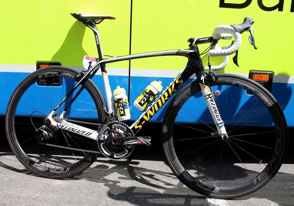 Nachdem er auf seinem Specialized S-Works Tarmac bei der Route du Sud bis nach ganz oben auf das Podium gefahren ist, kann man erwarten, dass Alberto Contador auch bei der Tour de France auf sein Sieger-Bike zurückgreifen wird.