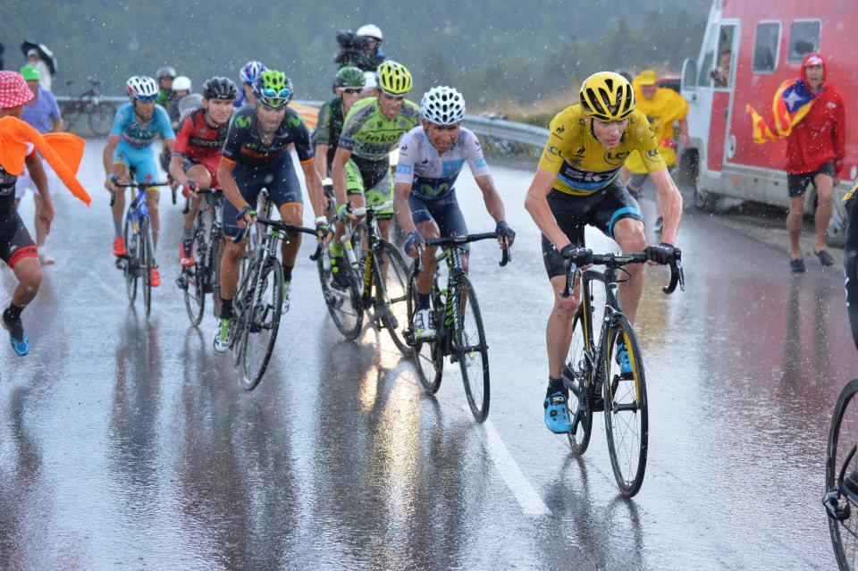 Tour de France 2015 - Etappe 12 - Chris Froome, Nairo Quintana und Alberto Contador. @gruber images