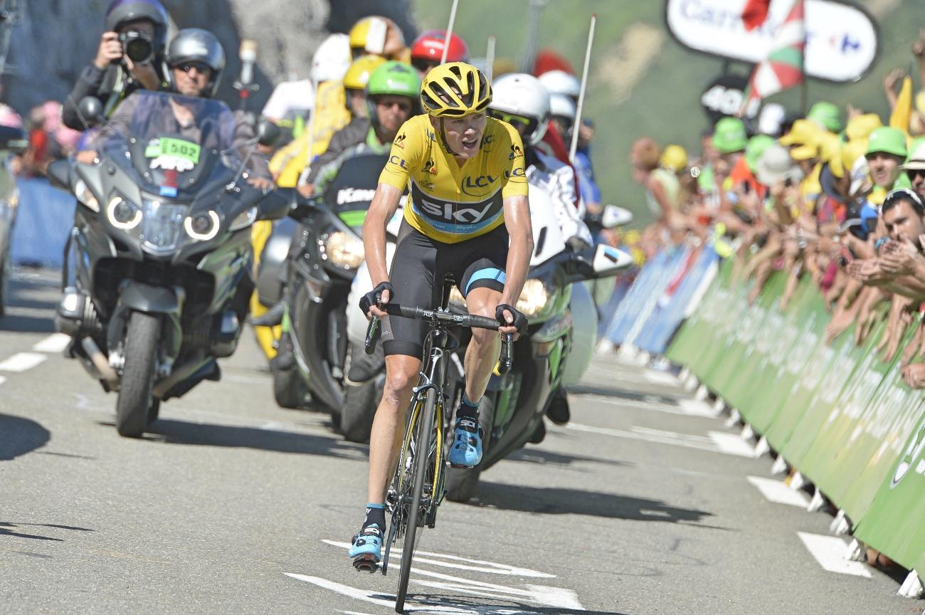 Tour de France 2015 - 10. Etappe . Chris Froome fährt allen davon. (pic: Sirotti)