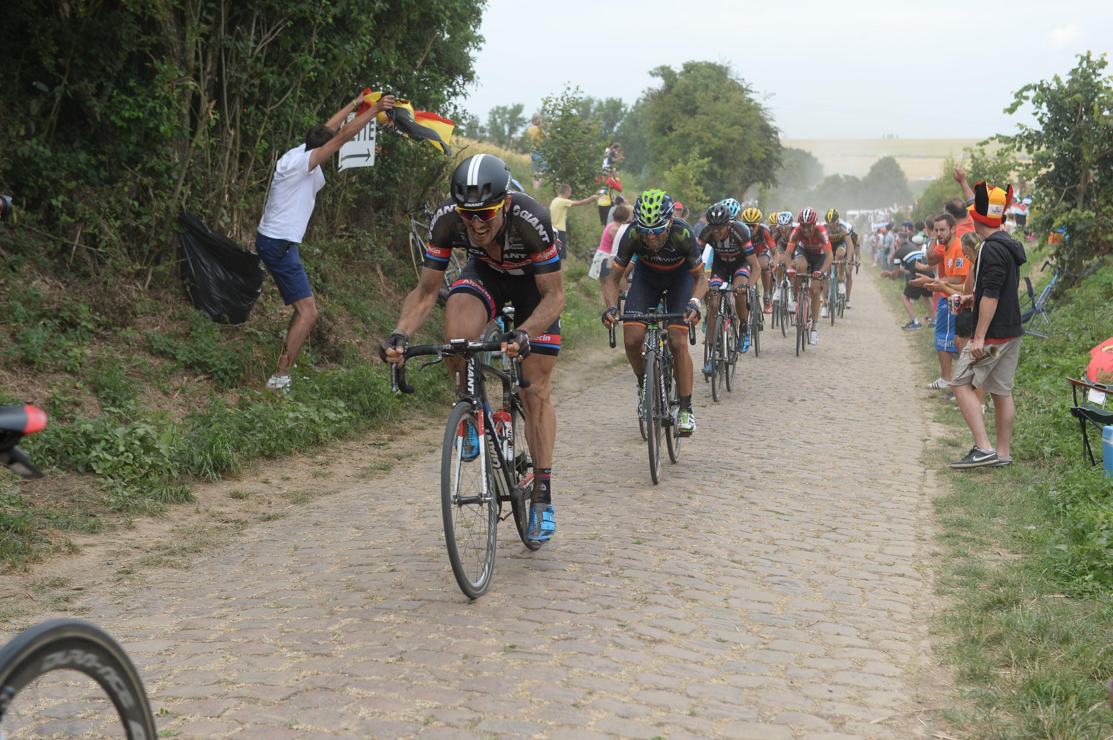 John Degenkolb zeigte eine beeindruckende Leistung bei der 4. Etappe der Tour de France 2015 und fuhr verdient auf den 2. Platz. (pic: Sirotti)