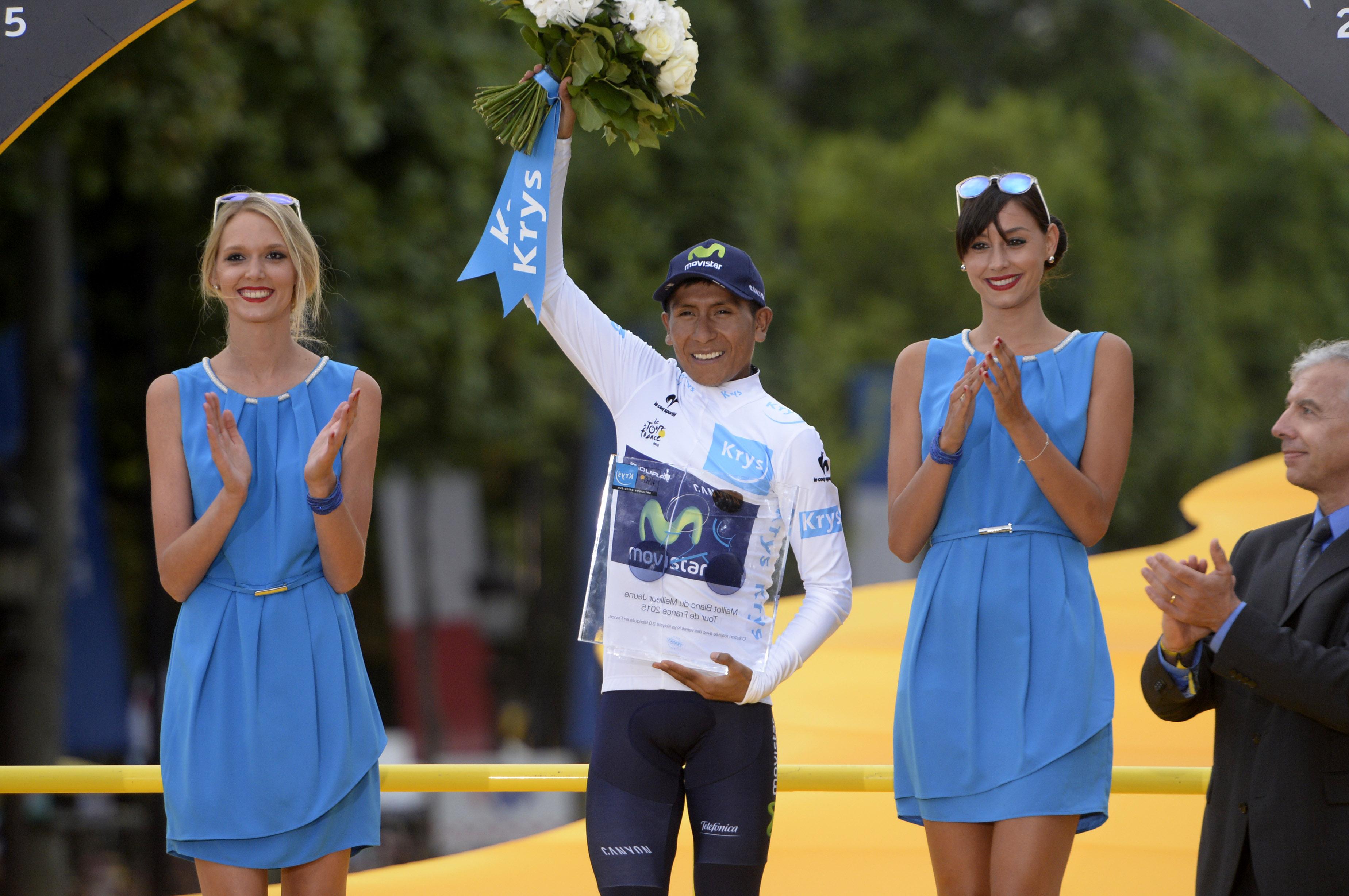 Nairo Quintana hat die Nachwuchswertung der Tour de France 2015 und den 2. Platz der Gesamtwertung gewonnen bzw. eingefahren. (pic: Sirotti)