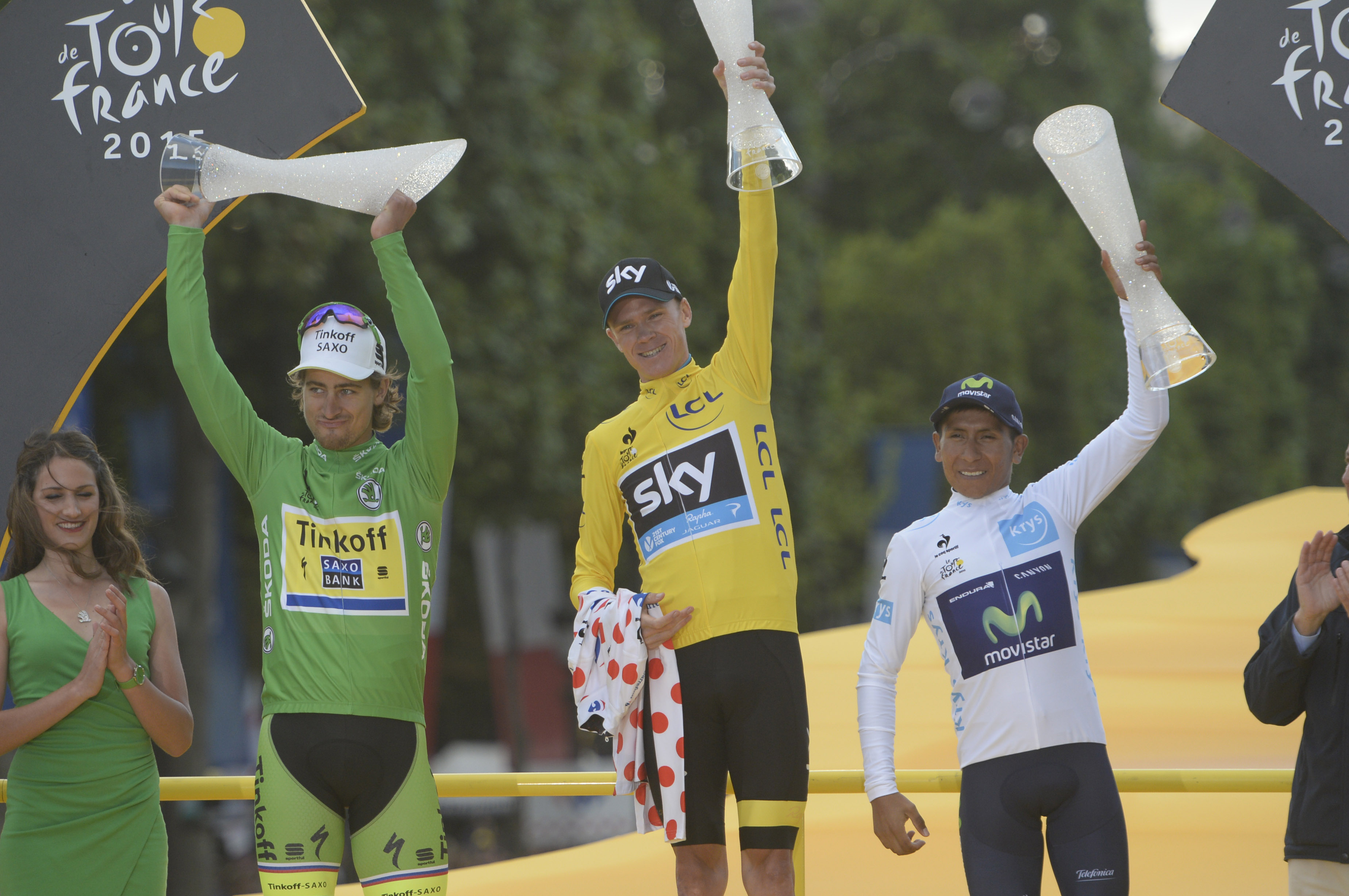 Chris Froome hat die Tour de France 2015 gewonnen. (pic: Sirotti)