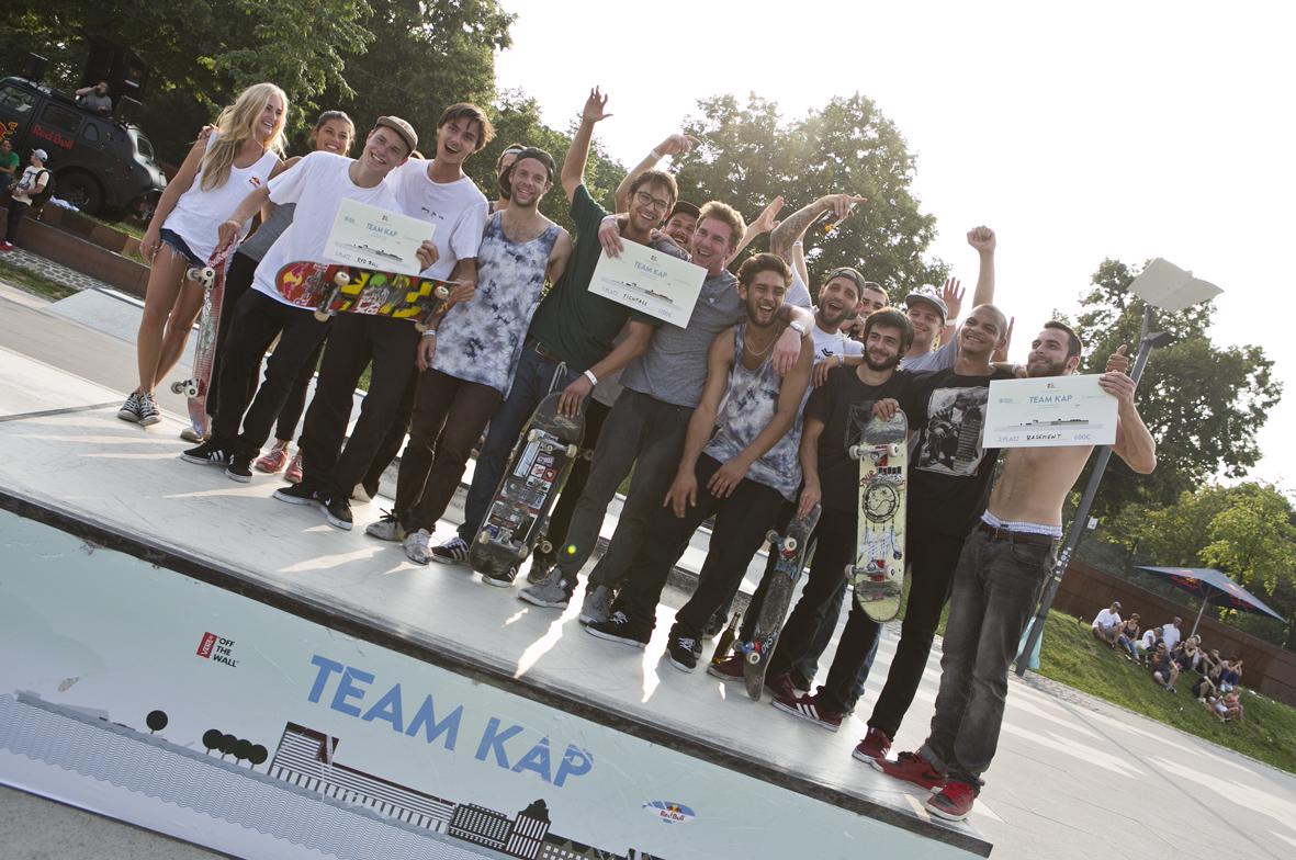 Die Gewinner-Teams: Red Bull, Titus und Basement © Cora Berndt-Stühmer