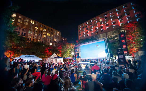 The North Face outdoor screening taking place in Montreal's Quar