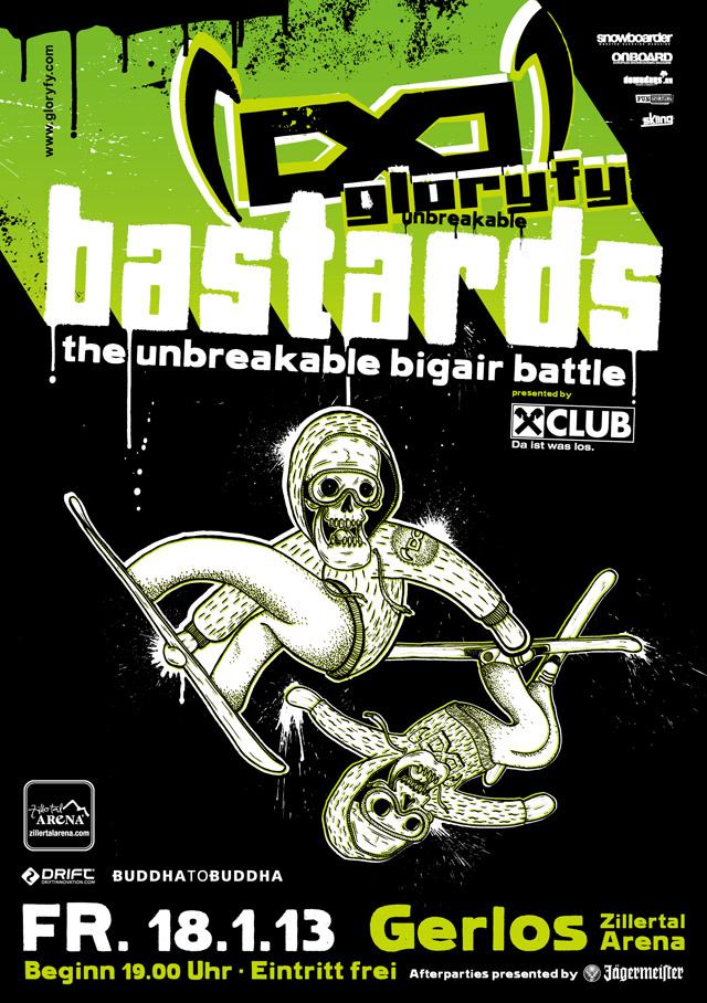 gloryfy BASTARDS A5 Flyer 2013-1
