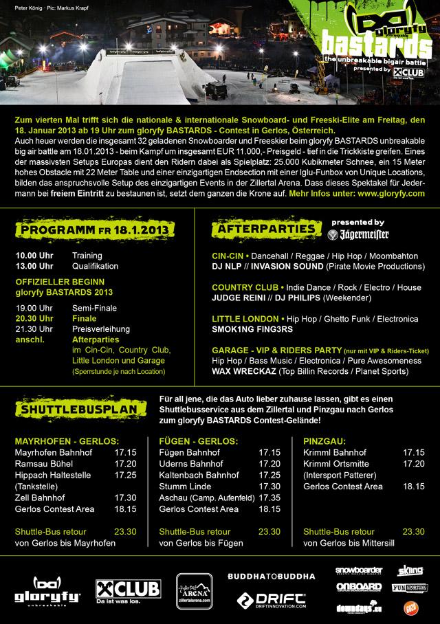 gloryfy BASTARDS A5 Flyer 2013-2