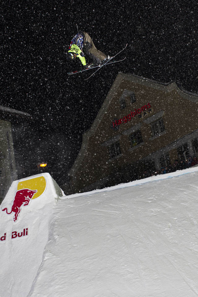 Competitor performs at the Red Bull Playstreets in Bad Gastein, Austria on February 23rd 2013