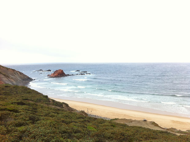 ...kaum Wellen in Ponta Ruiva...