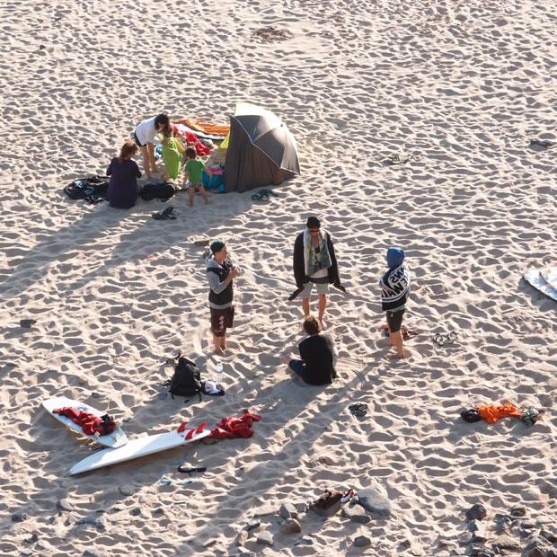 Die heutige Surf-Session ging bis in die Abendstunden...
