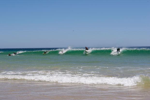 Wenn mal eine Welle kommt will jeder ran!