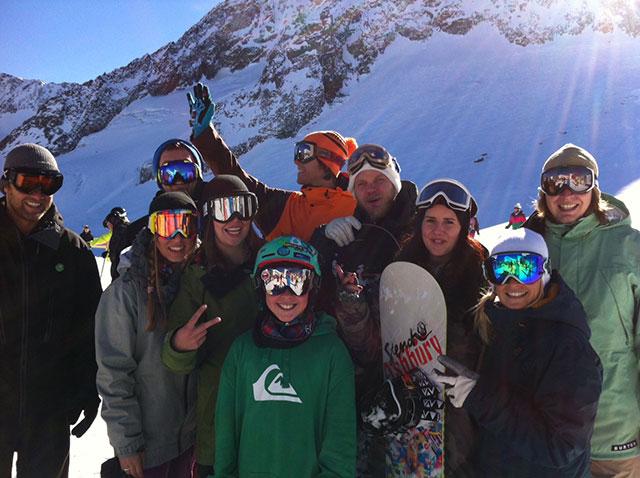 V.l.n.r.: Basti, Dana, Franz, Meike, Tobi. Clemens, Anton, Dani, Moni, Felix