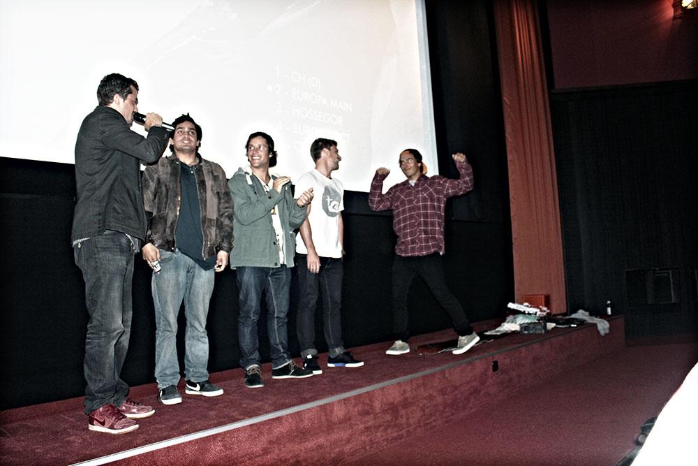 ...bevor Brusti die Rider aus dem Film auf die Bühne bittet.