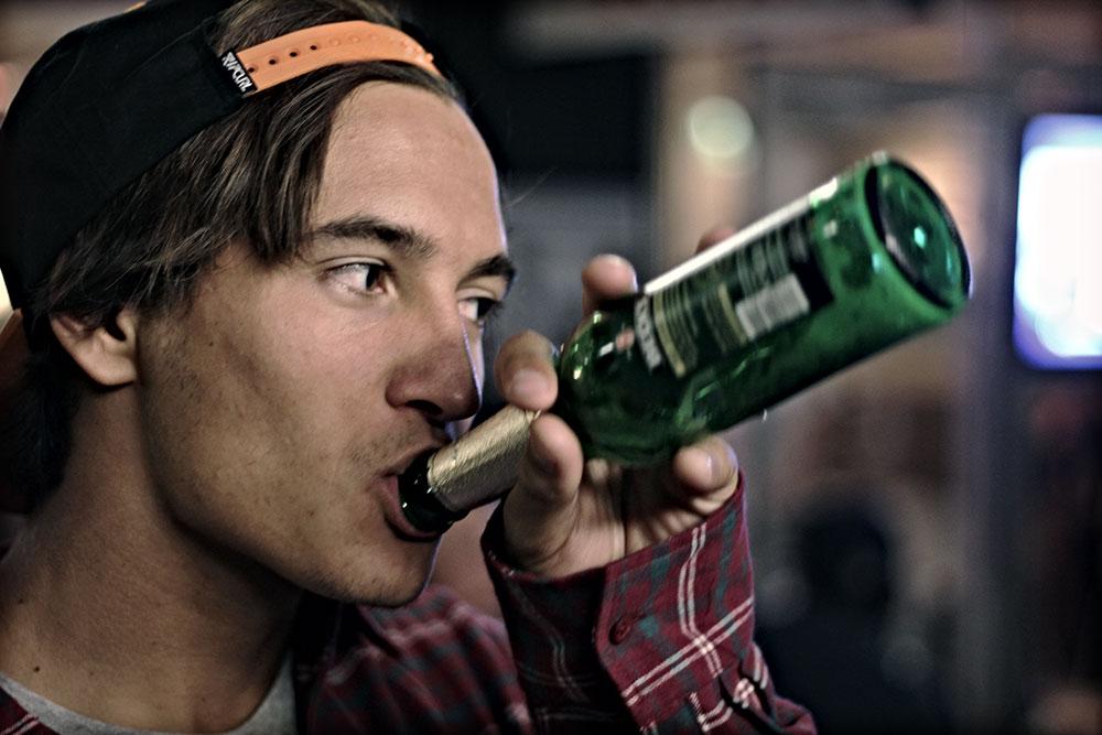 Bier gab's auch...
