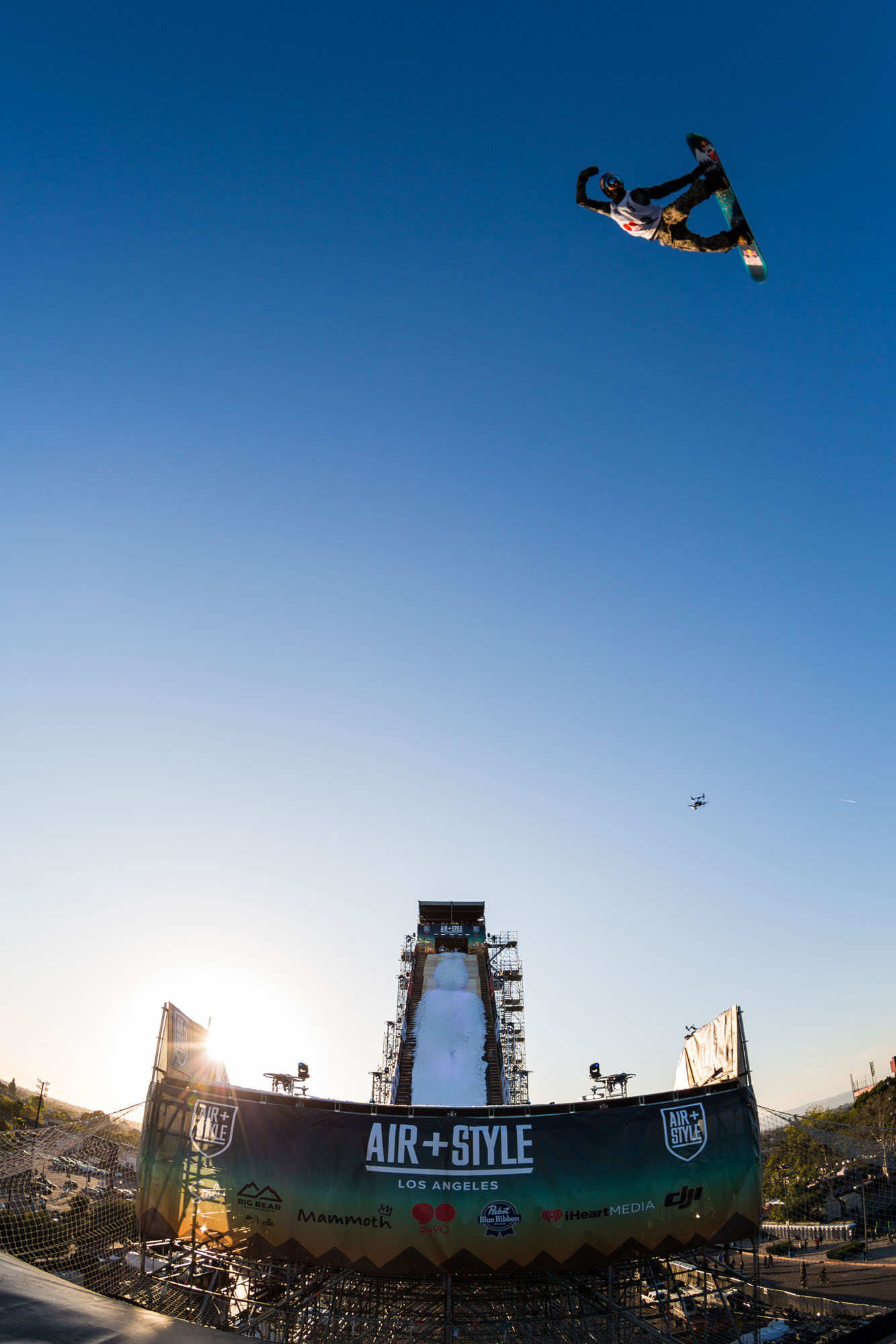 Mark McMorris competes at Air + Style, held at EXPO Park at the Coliseum in Los Angeles, CA, USA on 20 February, 2016.