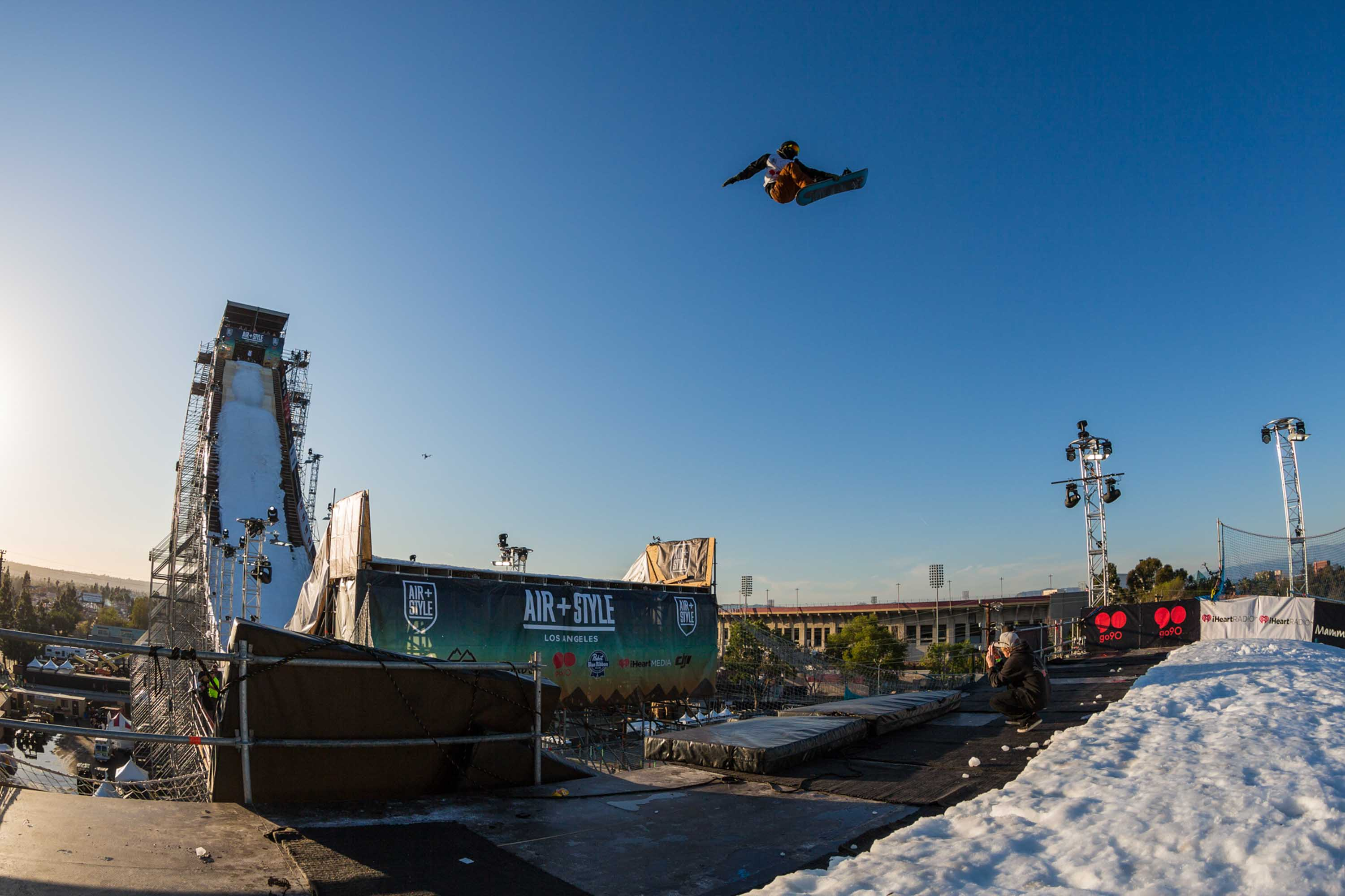 Roope Tonteri competes at Air + Style, held at EXPO Park at the Coliseum in Los Angeles, CA, USA on 20 February, 2016.