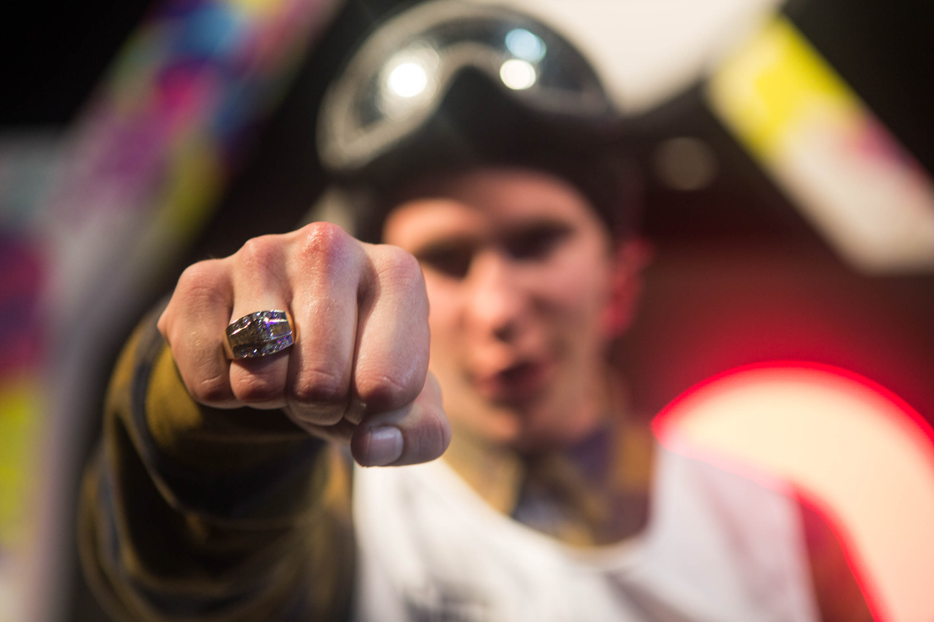 Sven Thorgren's third place was enough to earn him the overall Air+Style Tour title. And a big ring.