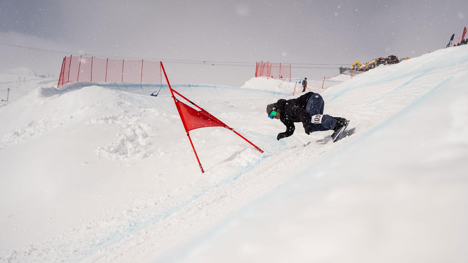 suddenrush banked slalom laax 2020, laax, banked slalom, schweiz, corona