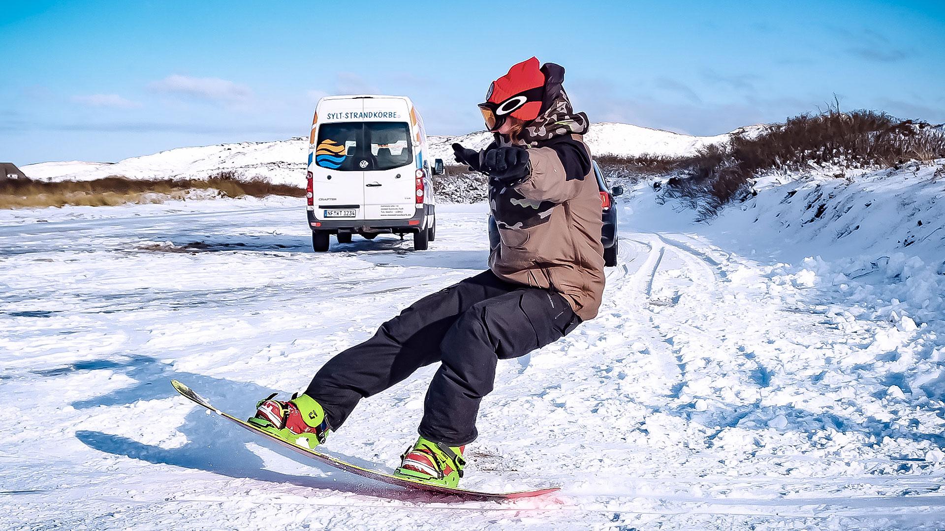 snowboarden, sylt, hörnum, shredden,
