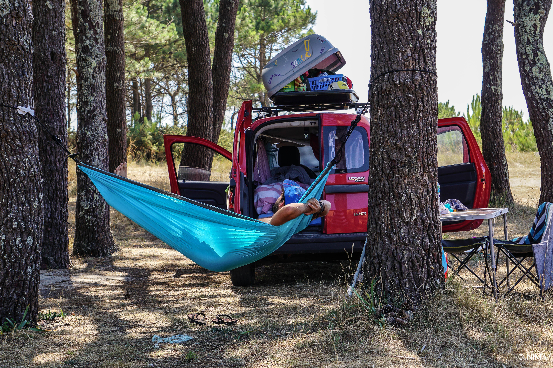 An diesem Platz in Galizien campten wir zwei Wochen, meistens allein…