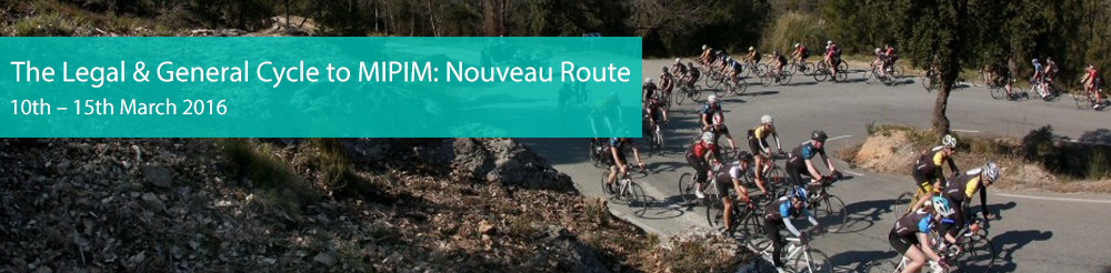 The Legal & General Cycle To MIPIM: Nouveau Route