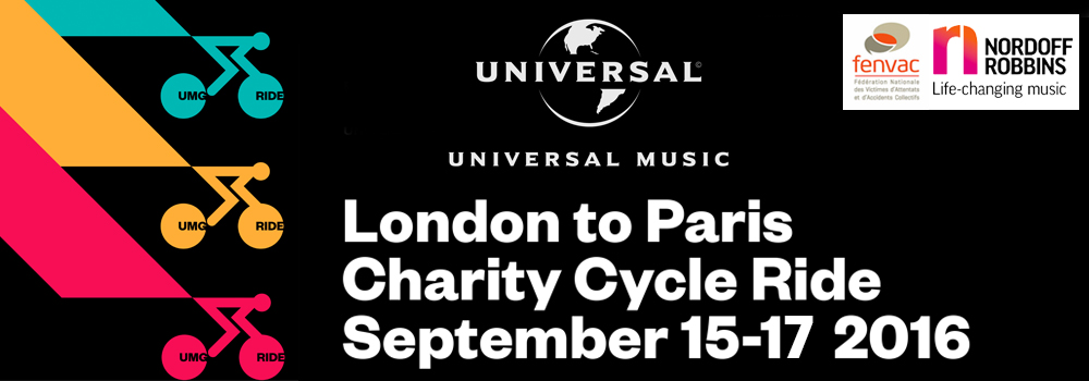 Universal Music Ride - London to Paris 2016