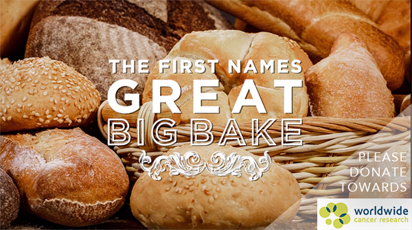 The First Names Great Big Bake 2017