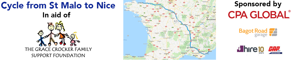 a cycle from St Malo to Nice