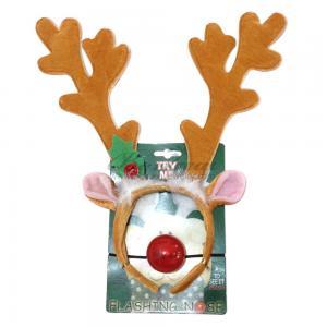 Flashing reindeer antlers and nose
