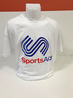 SportsAid Cotton White T-Shirt