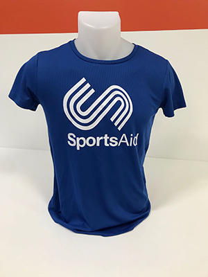 SportsAid Performance Blue T-Shirt