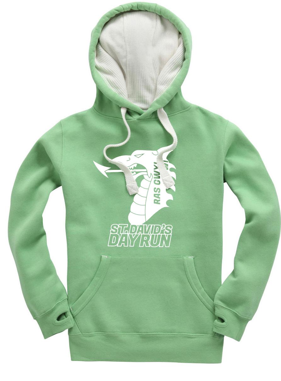 St Davids Day Hoodie - Green Large Logo