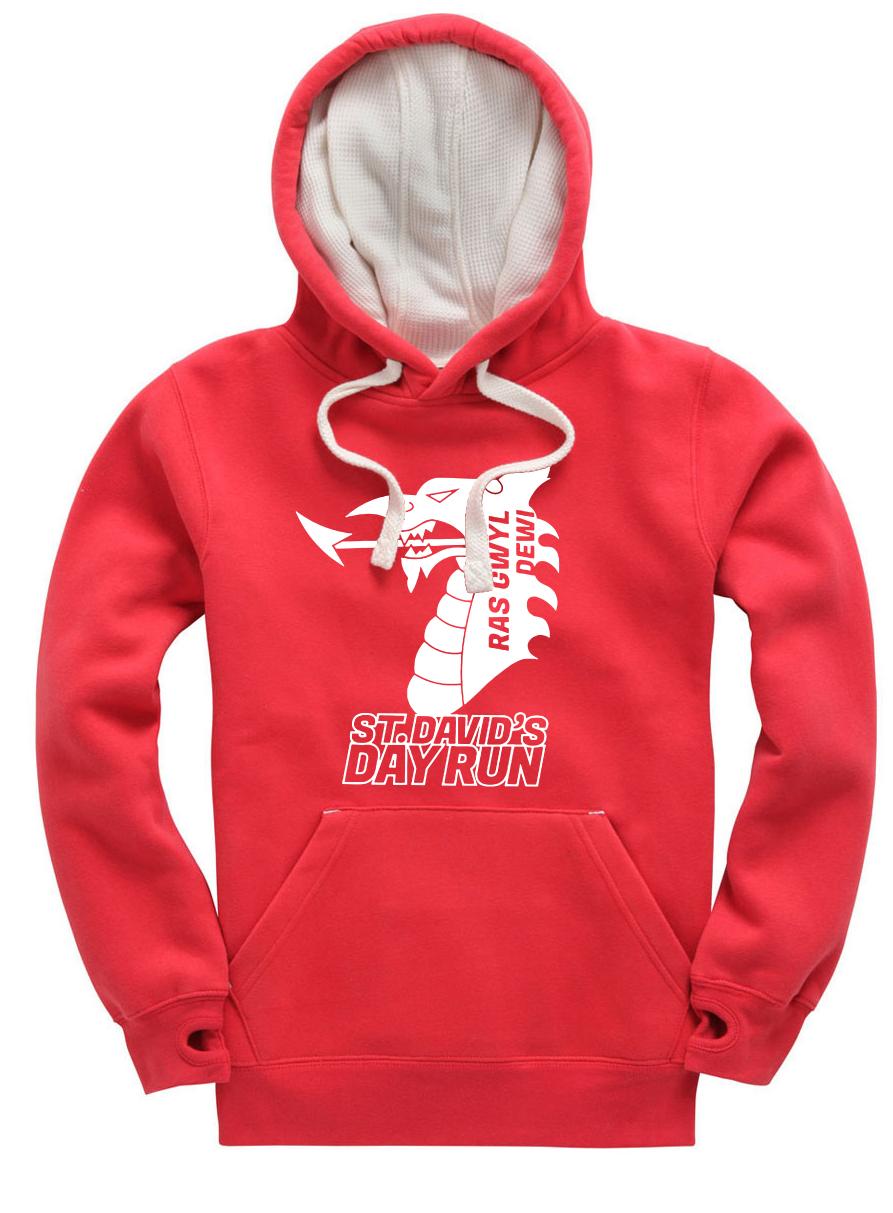 St Davids Day Hoodie - Red Large Logo