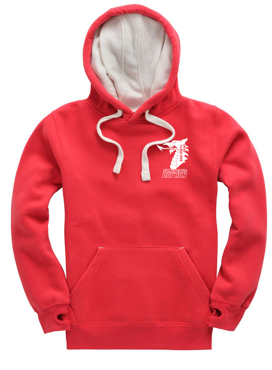St Davids Day Hoodie - Red Small Logo