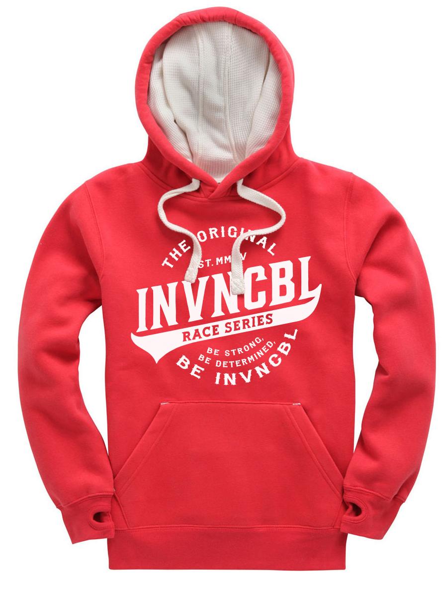 INVNCBL Hoodie - Red Large Logo
