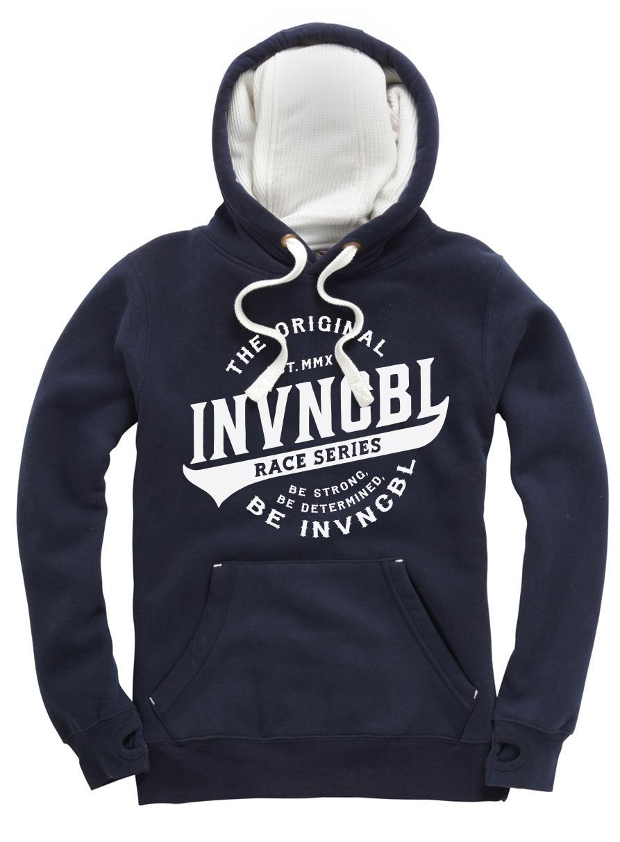 INVNCBL Hoodie -Navy Large Logo
