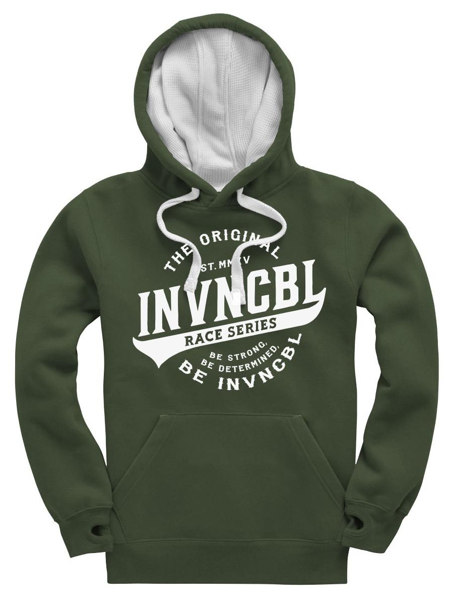 INVNCBL Hoodie -Dark Green Large Logo