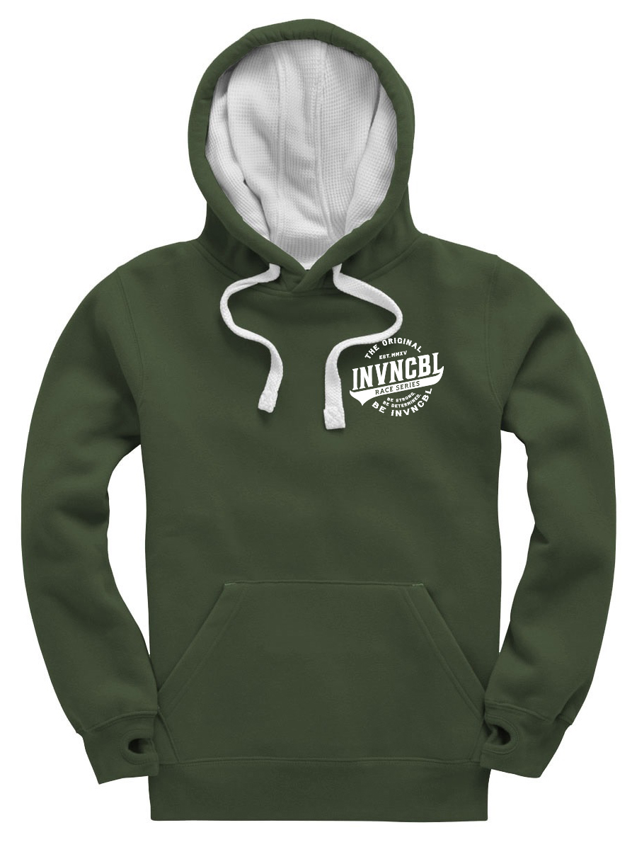 INVNCBL Hoodie -Dark Green Small Logo