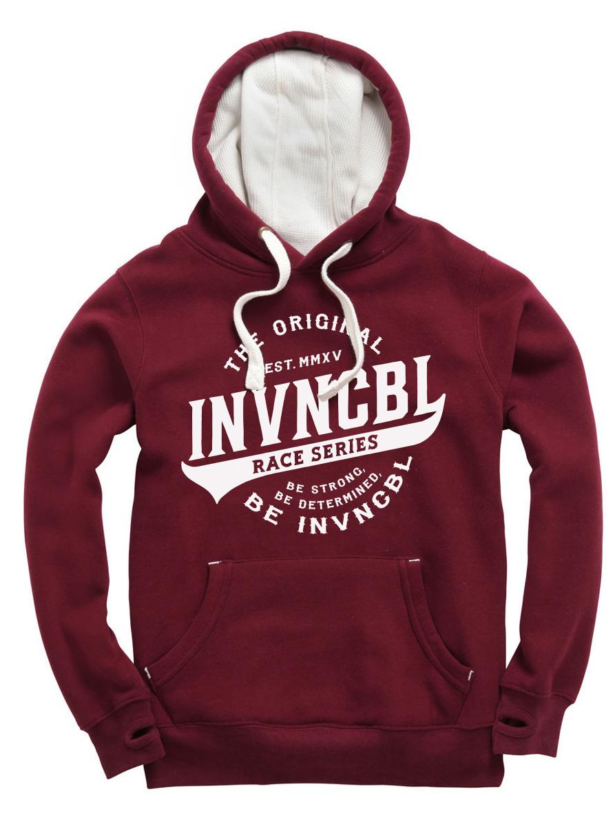 INVNCBL Hoodie - Burgundy Large Logo