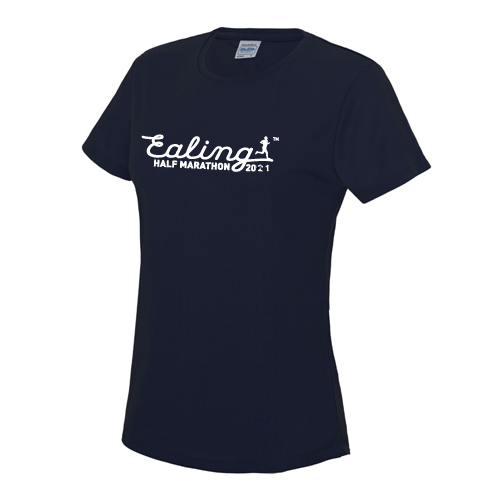 Ealing Half Navy T-Shirt - Female (inc UK p&p)