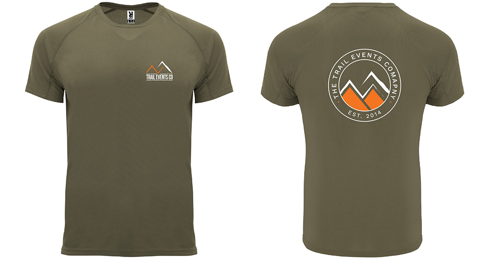 THE TRAIL EVENTS LOGO 'ESTABLISHED 2014' TECHNICAL TEE Green