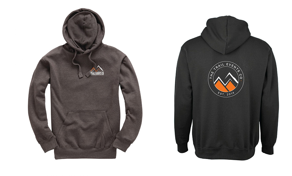 THE TRAIL EVENTS CO LOGO HOODIE 'ESTABLISHED 2014' Charcoal