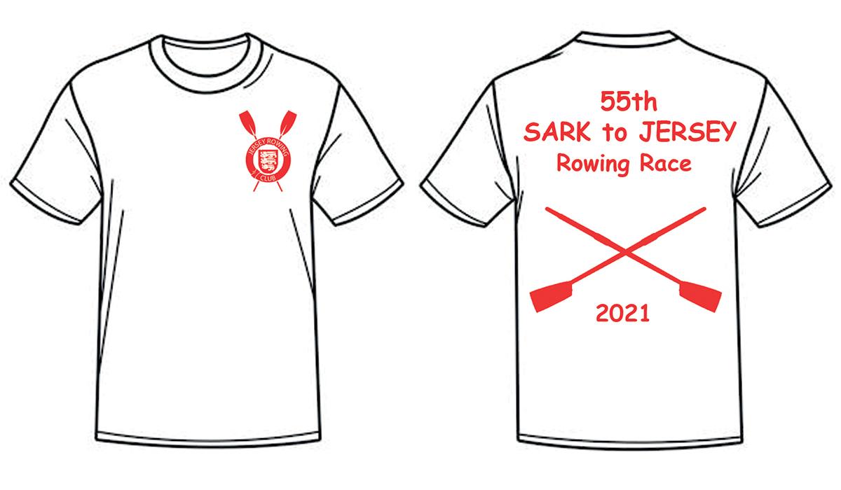 Sark to Jersey T-shirts