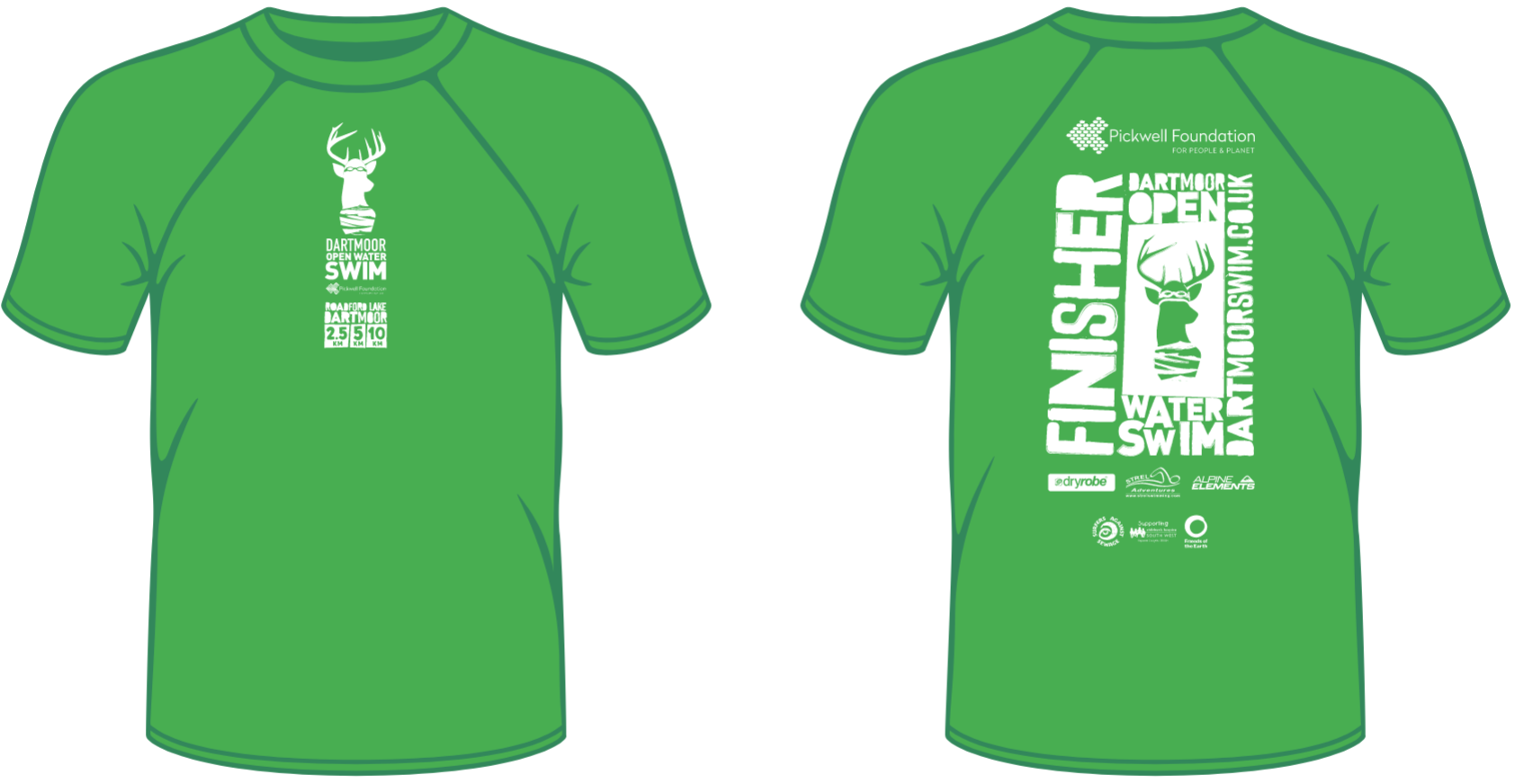 Finisher T-shirt - Dartmoor Open Water Swim