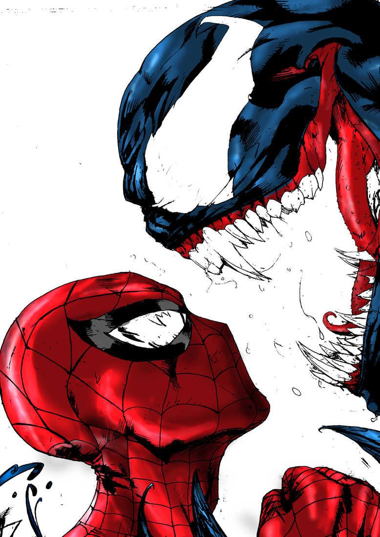 Spiderman Vs Venom Marvel Comics Created By Formerlyknownas9 On
